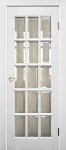 Дверь массив Прима эмаль ст. с фацетом