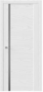 Дверь Триумф F30 белый радиал ст. зеркало графит сатин