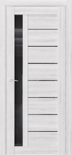 Дверь Триумф Q37 клен айс ст черный лакобель