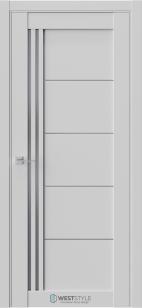 Дверь Триумф RL5 серый эмалит ст. графит сатин