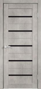 Дверь ЦДО 04 бетон светлый ст. черное