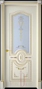 Дверь Диамант ДО эмаль слоновая кость, патина