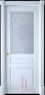 Дверь Турин эмаль белая ст. светлое фотопечать