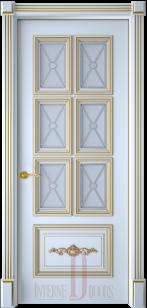 Дверь Багет 10/1 эмаль патина ст. художественное