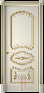 Дверь Багет 5/1 эмаль белая патина