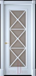 Дверь Багет 17 эмаль со стеклом