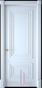 Дверь Престиж 1/2 багет эмаль белая