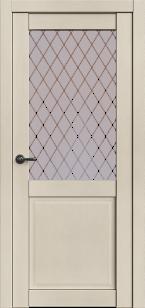 Дверь Корона 2 Айвори софт ст. сатин Ромб
