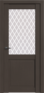 Дверь Корона 2 Сильвер софт ст. сатин Ромб