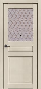 Дверь Корона 4 Айвори софт ст. сатин Ромб