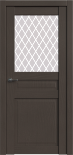 Дверь Корона 4 Сильвер софт ст. сатин Ромб